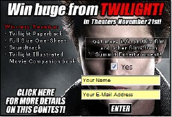 Win Twilight Merchandise