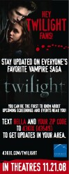Receive Twilight Updates