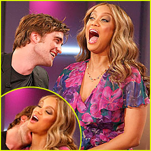 Robert Necking with Tyra?!?!?