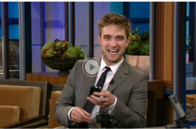 UPDATE:WATCH Robert Pattinson on The Tonight Show