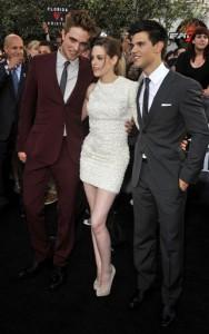 Robert Pattinson, Kristen Stewart,Taylor Lautner