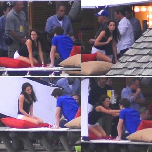 Rob & Kristen Filming at Isle Esme Yesterday