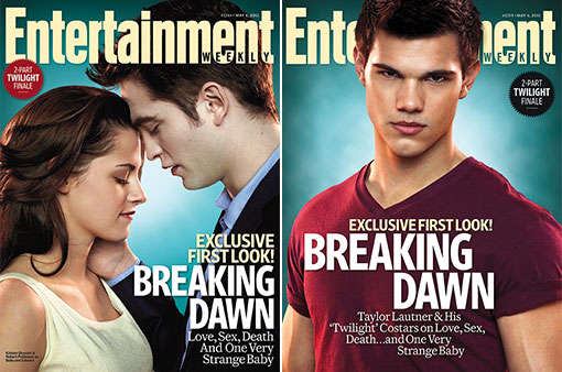 "New ""Breaking Dawn"" Covers And Movie Stills From EW!"