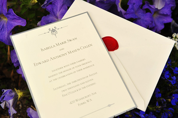 Up Close With Bella & Edward's Wedding Invitation