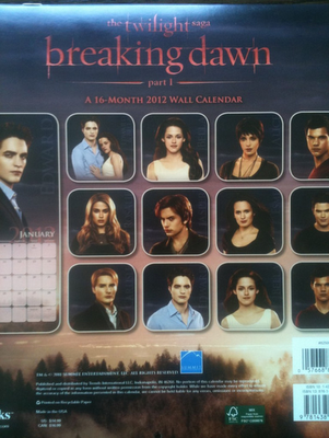 &#8216;Breaking Dawn&#8217; Calendar Images