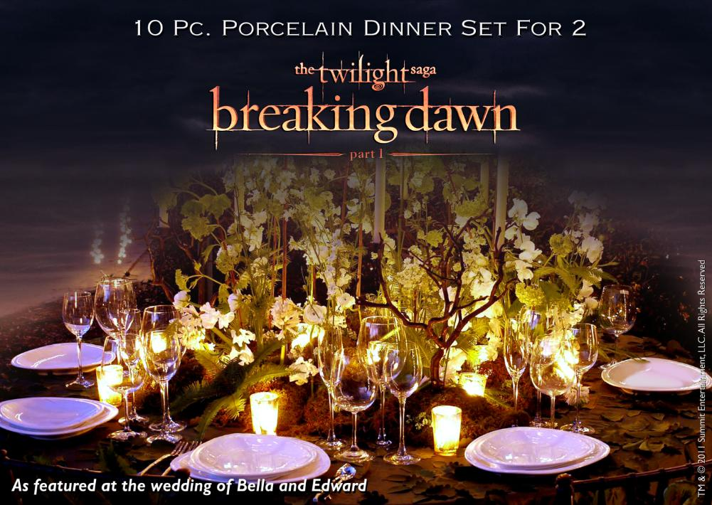 Breaking Dawn Wedding Reception Dinnerware Now Available For