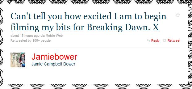 "Jamie Campbell-Bower Confirms He's Back for ""Breaking Dawn"" + an Updated ""BD"" Synopsis"