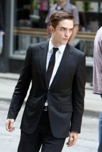 Rob on the Set of 'Cosmopolis'